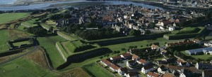 Berwick upon Tweed from the air.